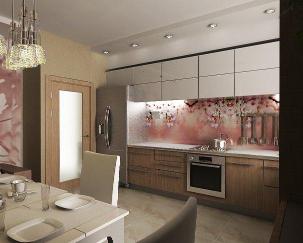 Дизайн кухни по одной стене