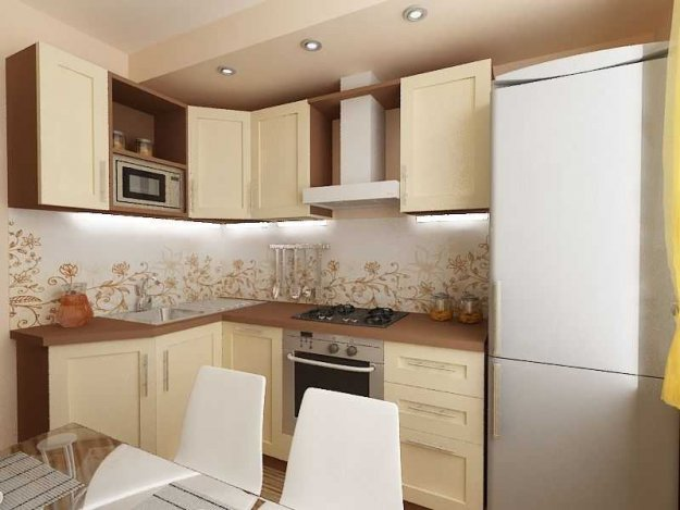 Ремонт кухни 9 кв. м с угловым