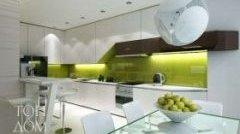 Біло-зелений дизайн кухні