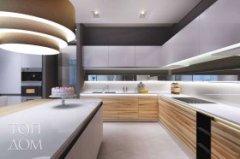 Дизайн великої кухні в стилі мінімалізму