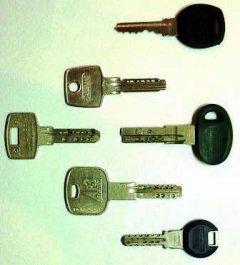 Ключі від різних циліндрових механізмів