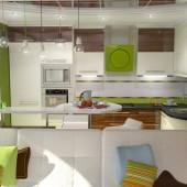 Кухня в квартирі-студії: ідеї для інтер'єру, правила зонування